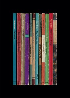 New Order 'Substance' Album As Books Poster Print by StandardDesigns on Etsy https://www.etsy.com/listing/129441619/new-order-substance-album-as-books