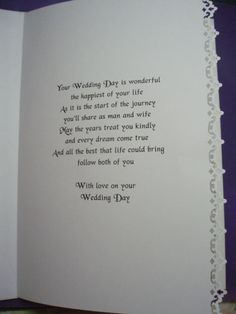 #4 ..........verse of wedding card ....see also   #5