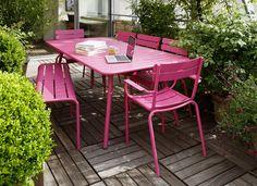 Ensemble de jardin Luxembourg rose Fuchsia - Fermob