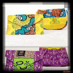 Carteira tecido africano