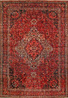 "Buy Bakhtiari Persian Rug 9' 10"" x 13' 11"", Authentic Bakhtiari Handmade Rug"