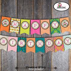 Owl Party - Night Owl Birthday Party - Invitation, Thank You Card & Wrap Around Address Labels - Customized Printable (Pajama Party). $30.00, via Etsy.