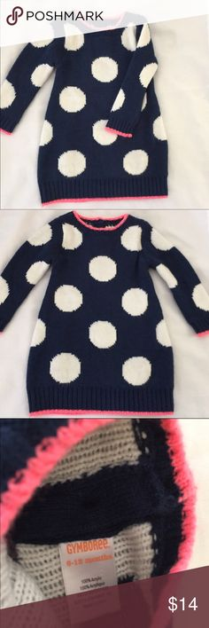 New Gymboree Polka dot sweater dress Super cute polka dot sweater  Gymboree dress 6-12 blue never use but don't have tags in excelentes conditions Gymboree Dresses Casual