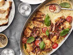 Tareq Taylor, Parmesan, Risotto, Zucchini, Pasta, Yum Yum Chicken, Creamy Chicken, Everyday Food, Mozzarella