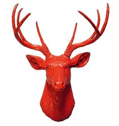 """Amazon.com - Red 8 Point Deer Head 