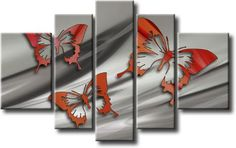 Cuadro abstracto moderno, ver más detalles o comprarlo en nuestro blog www.milideas.net Multi Canvas Art, Diy Canvas Art, 3 Piece Art, Create Canvas, Contemporary Art Daily, Art N Craft, Panel Art, Butterfly Art, Home And Deco