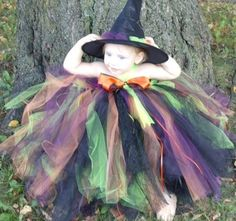 Witch Tutu Dress/ Costume  with Hat by pocketfulofposiesbou, $56.00    use pinningfor10 coupon code for 10% off