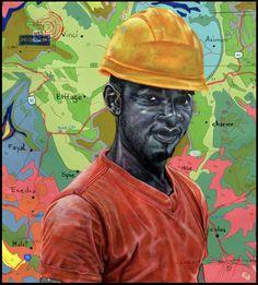 Jean David Nkot, (°1989) Kameroen, 'PO.BOX Surface technician' Contemporary Artists, Surface, David, Box, Hats, Snare Drum, Hat, Hipster Hat