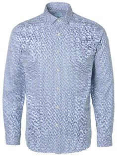Identity SELECTED Homme - Slim fit - 100 % Baumwolle - Regular Kragen - Gemustert - Verwaschener Look. Das Model ist 189 cm und trägt Größe L.  Dieses glatte Hemd besteht aus Baumwolle mit normal geschnittenem Kragen und verfügt über ein attraktives Punktmuster. Styling-Tipp: Dieses Hemd passt perfekt zu Jeans und einen leichten Blazer. 100% Baumwolle...