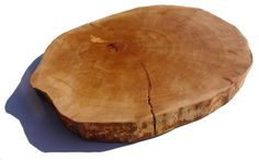 Serving / Butchers board Full cross section from Single piece of wood serving plate