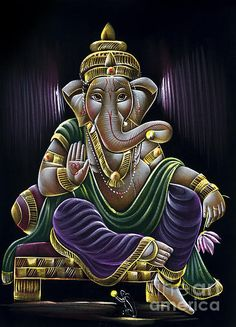 Shop for ganesh art from the world's greatest living artists. All ganesh artwork ships within 48 hours and includes a money-back guarantee. Choose your favorite ganesh designs and purchase them as wall art, home decor, phone cases, tote bags, and more! Lord Ganesha Paintings, Ganesha Art, Krishna Art, Ganesh Idol, Shiva Art, Hindu Art, Radhe Krishna, Ganesh Images, Ganesha Pictures
