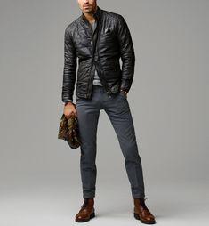 Massimo Dutti Nappa Leather Jacket
