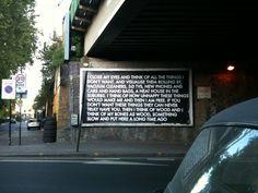 Bethnal Green Billboard Street Art #streetart #london