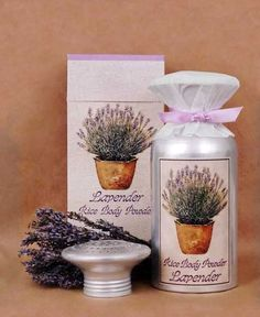 Lavender Rice Body Powder
