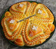 :-) Serbian Food, Serbian Recipes, Bread Art, Food Decorating, Bread And Pastries, Food Humor, Bread Rolls, Crackers, Food Art