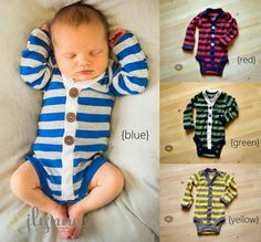 Two Baby Boy Cardigans - Newborn Size - Spring Photo Prop - Buy Two and SAVE!!