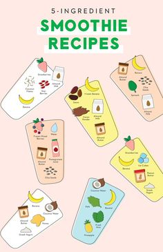 Save this for a *FREE* printable Brit + Co planner insert for7 different easy 5-ingredient smoothie recipes.