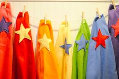 easy sew / no sew super hero capes by A Pretty Cool Life