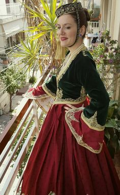 """A photo journey in Greece - Greek traditional folk costume """"Amalia """". Greek Traditional Dress, Traditional Outfits, Folk Costume, Costume Dress, Greek Dress, Empire Ottoman, Costumes Around The World, European Dress, Greek Culture"""