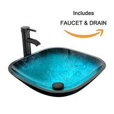 Fives Favorites Bathroom Sink Faucet Combos Pinterest Waterfall Gl Vessel Sinks And