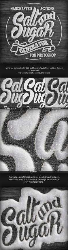 Salt and Sugar Generator - Photoshop Actions - Utilities Actions