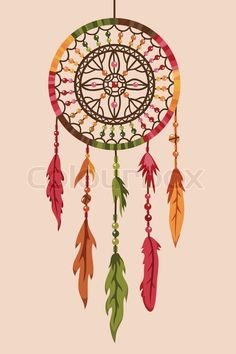 cool dream catcher drawings with color - Google Search