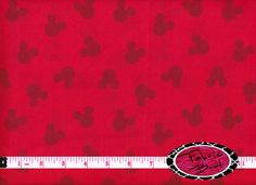 MICKEY MOUSE Fabric by the Yard Half Yard or Fat by FabricBrat, $2.25