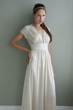 Love a simple wedding dress