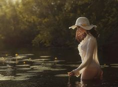 Girl and river - null