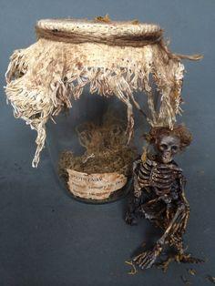 ooak male dead skeleton Tooth Fairy guy by footstepsinthewind, $45.00