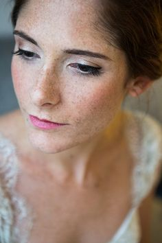 Gorgeous natural freckles | Photography: a guy + a girl photography - aguyandagirlphotography.com  Read More: http://www.stylemepretty.com/2015/06/01/elegant-dramatic-brooklyn-wedding/