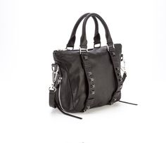 She+Lo - Breakthrough - Mini Satchel in Black (side view)