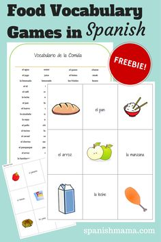 Here's a free download for studying food in Spanish! The pack includes printable word and picture cards for playing multiple games, with a vocabulary list and game instructions. My students (of all ages) love practicing vocabulary by playing Go Fish/¡Ve a Pescar!, Old Maid, Concentration, and Slap It. They could also be made into flashcards.…
