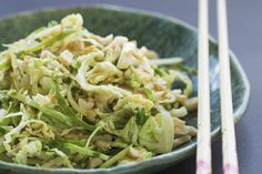 Brussels sprout, apple and sesame Asian slaw – Recipes – Bite