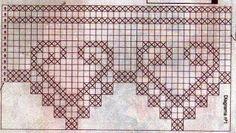 Gráficos bicos de crochê coração - Entre Panos e Barrados Artesanato em Crochê e Pintura