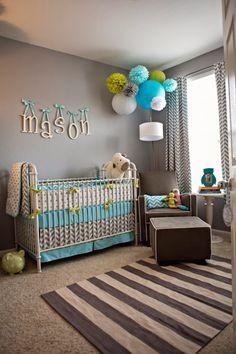 Dormitorio de bebé paredes grises