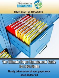A gift from me to you! Free downloadable eBook    https://adventuresinorganizing.leadpages.net/free-paper-management-guide/