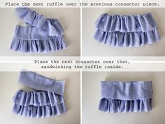 Little girl ruffle skirt tutorial.