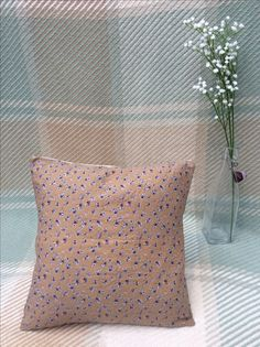 Items similar to Handmade Floral Cushion on Etsy Floral Cushions, Sally, Throw Pillows, Trending Outfits, Sewing, Unique Jewelry, Purple, Handmade Gifts, Etsy