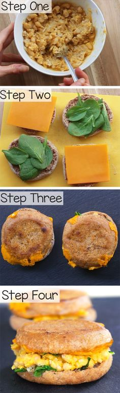 Totally vegan and soy-free, the sandwiches are a healthy vegan breakfast to take on the go!