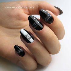 Elegante diseño de uñas negras, ¡realmente me encanta! - Elegante diseño de uñas negras, ¡realmente me encanta! Black Nail Designs, Acrylic Nail Designs, Nail Art Designs, Nails Design, Elegant Nail Designs, Perfect Nails, Gorgeous Nails, Pretty Nails, Amazing Nails