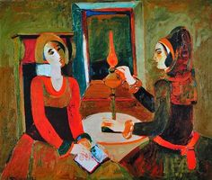 Minas Avetisyan, Memories Around Lamps on ArtStack #minas-avetisyan #art