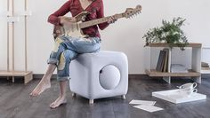 Loblò storage pouf has an hidden compartment to store what you like! €236. Flooring by Area Pavimenti.