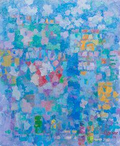"""PER STENIUS, """"VARISEVIEN SEINIEN KAUNEUS - KAUPUNKI ETELÄSSÄ"""". Some Image, Abstract Art, Artsy, Colorful, Art Prints, Landscape, Illustration, Modern, Ideas"""