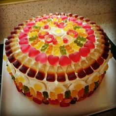 birthday cake decorating ideas for adults - happy birthday cake Haribo Birthday Cake, Sweetie Birthday Cake, Sweetie Cake, Dad Birthday Cakes, Torta Candy, Candy Cakes, Chocolates, Birthday Cake Decorating, Novelty Cakes