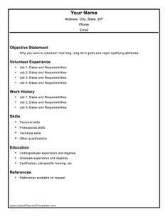 Marvelous Resume Templates Volunteer Work #resume #ResumeTemplates #templates # Volunteer