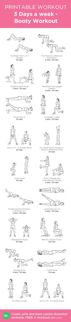 3 Different Booty Workouts: my visual workout created at WorkoutLabs.com
