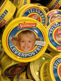 leverpostei - pork liver in a can.... Popular Norwegian food