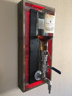 LARGE Bottle Wall Mount Liquor Dispenser