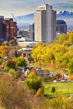 A view of Downtown Salt Lake City, Utah in Fall